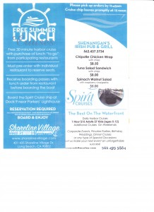 Summer Lunch Cruises – Shoreline Village @ Shoreline Village - Spirit Marine